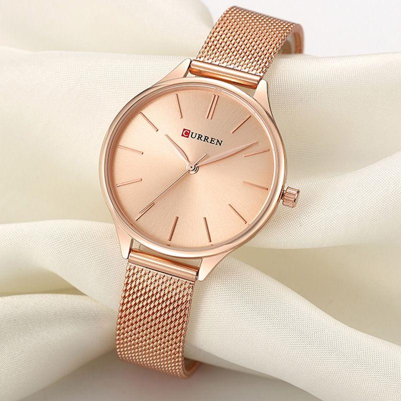 CURREN Women Watches Luxury Wrist watch relogio feminino Clock for Women Milanese Steel Lady Rose Gold Quartz Ladies Watch New