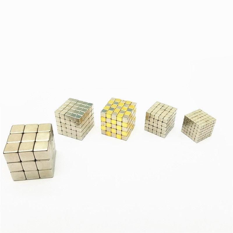 125/216 pièces 3mm 4mm 5mm petit aimant néodyme Cube 4mm N35 puissants aimants magnétiques bloc Buck Cube bricolage Puzzle NdFeB carré