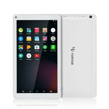 Yuntab blanc 10.1 pouce D102 tablet Android 6.0 quad core 1 GB + 8 GB avec Double caméra, Google Play Pré-chargé, Supporte Les Jeux 3D