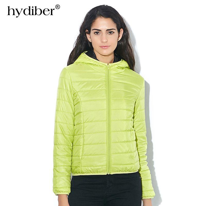 HYDIBER 2018 New Brand Fashion <font><b>Hooded</b></font> Parkas Winter Female Jacket Women Clothing Winter Coat Black Overcoat Women Jacket 538TN