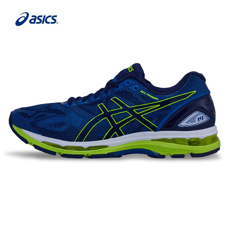 Original ASICS Men Shoes GEL-NIMBUS 19 Cushion Running Shoes Breathable Sports Shoes Sneakers free shipping