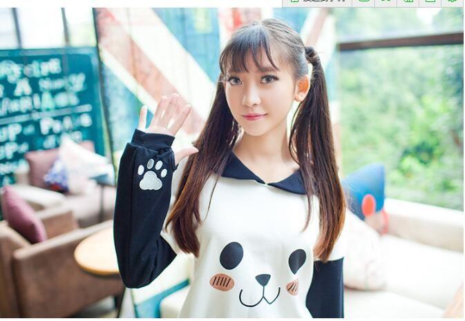 Europe 2018 women new women's wholesale sleeved knit panda printing