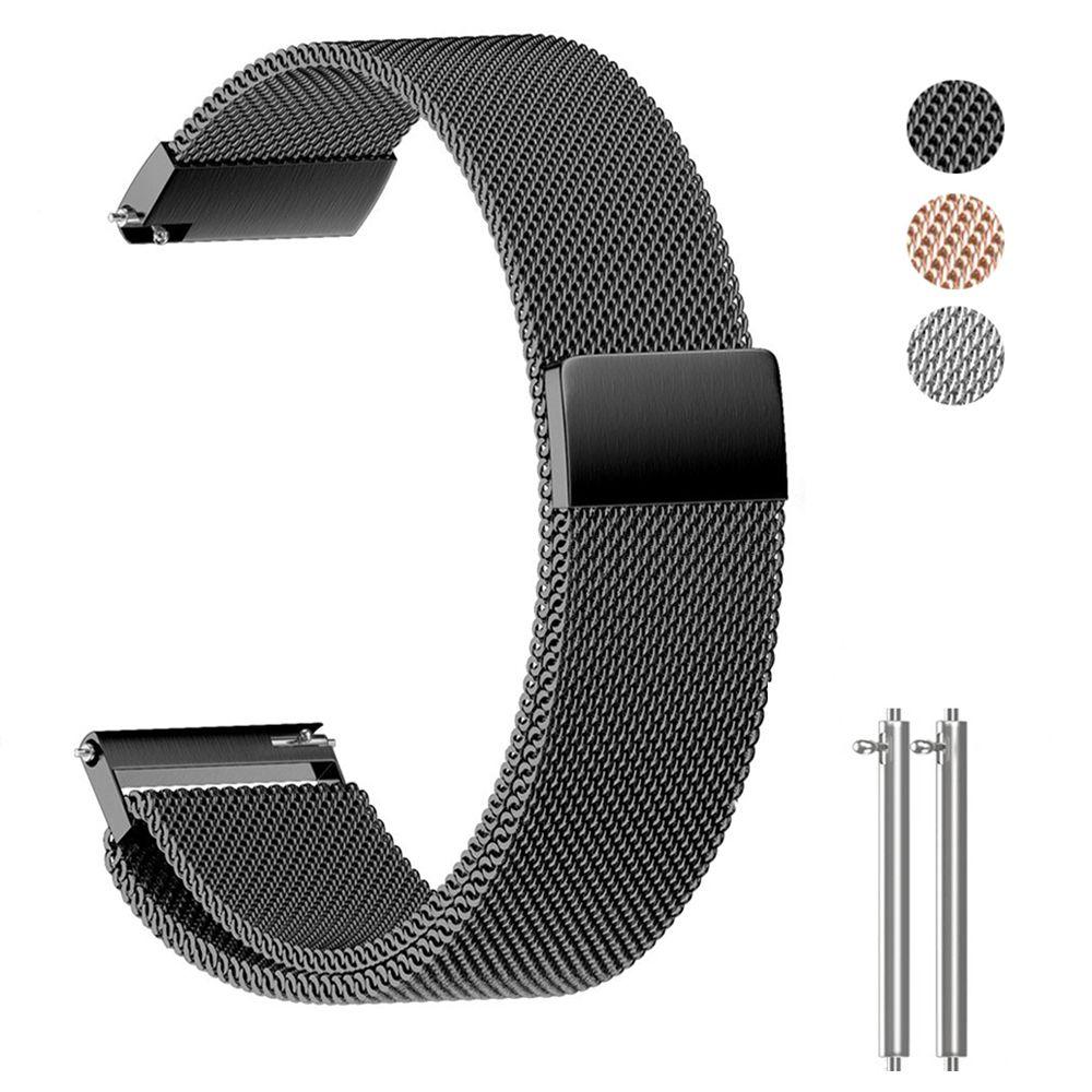 Bracelet En Acier inoxydable avec 18 20 22mm Largeur Universel Milanese Bracelet pour Montre Intelligente Métal Bande Magnétique Libération