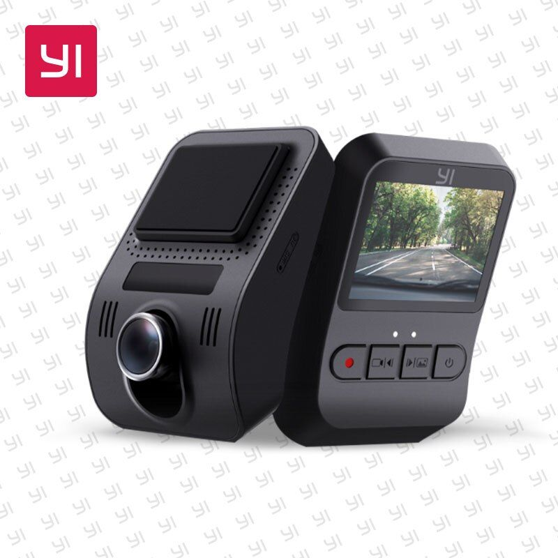 YI Mini Dash Camera Full HD 1080P Video Car DVR WiFi Recorder International Version 30fps Discreet Design 2.0 LCD Screen Black