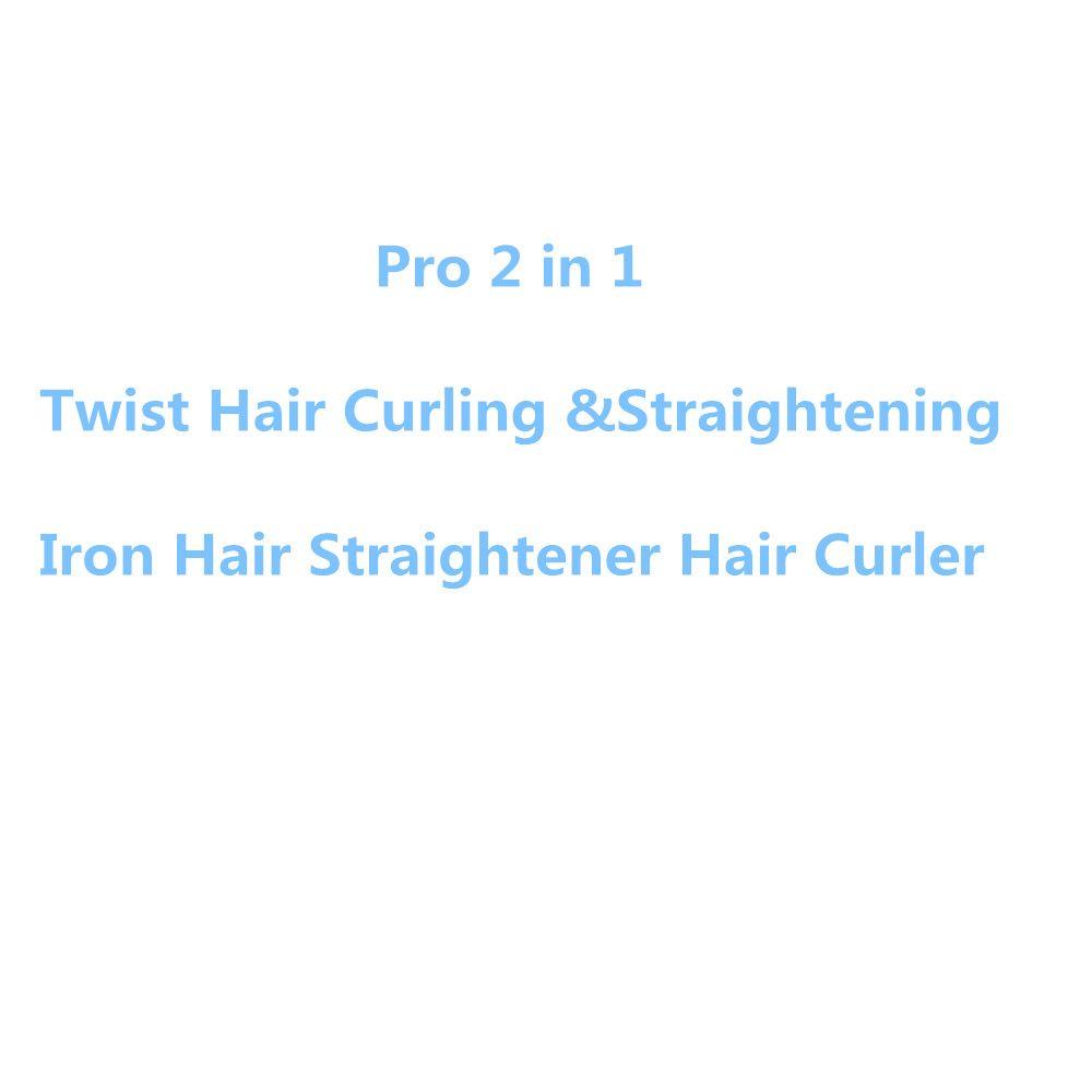Pro 2 dans 1 Twist Cheveux Curling et Fer À Lisser Cheveux Lisseur Cheveux Bigoudi Humide et Sec Fer Plat Cheveux styler dropshipping