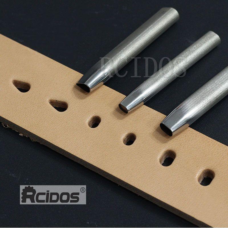 4x6mm/5x8mm manuel bricolage en cuir trou plat poinçon die, trou de goutte d'eau 5x9mm RCIDOS sac en cuir matériel découpé die, japon DC53 acier