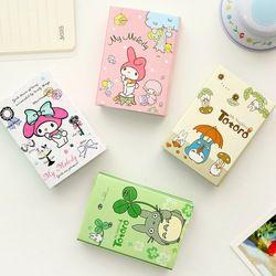 Kawaii Totoro & Melody 6 Pliage Mémo Pad Collant Notes Mémo Bloc-Notes Signet Cadeau Papeterie