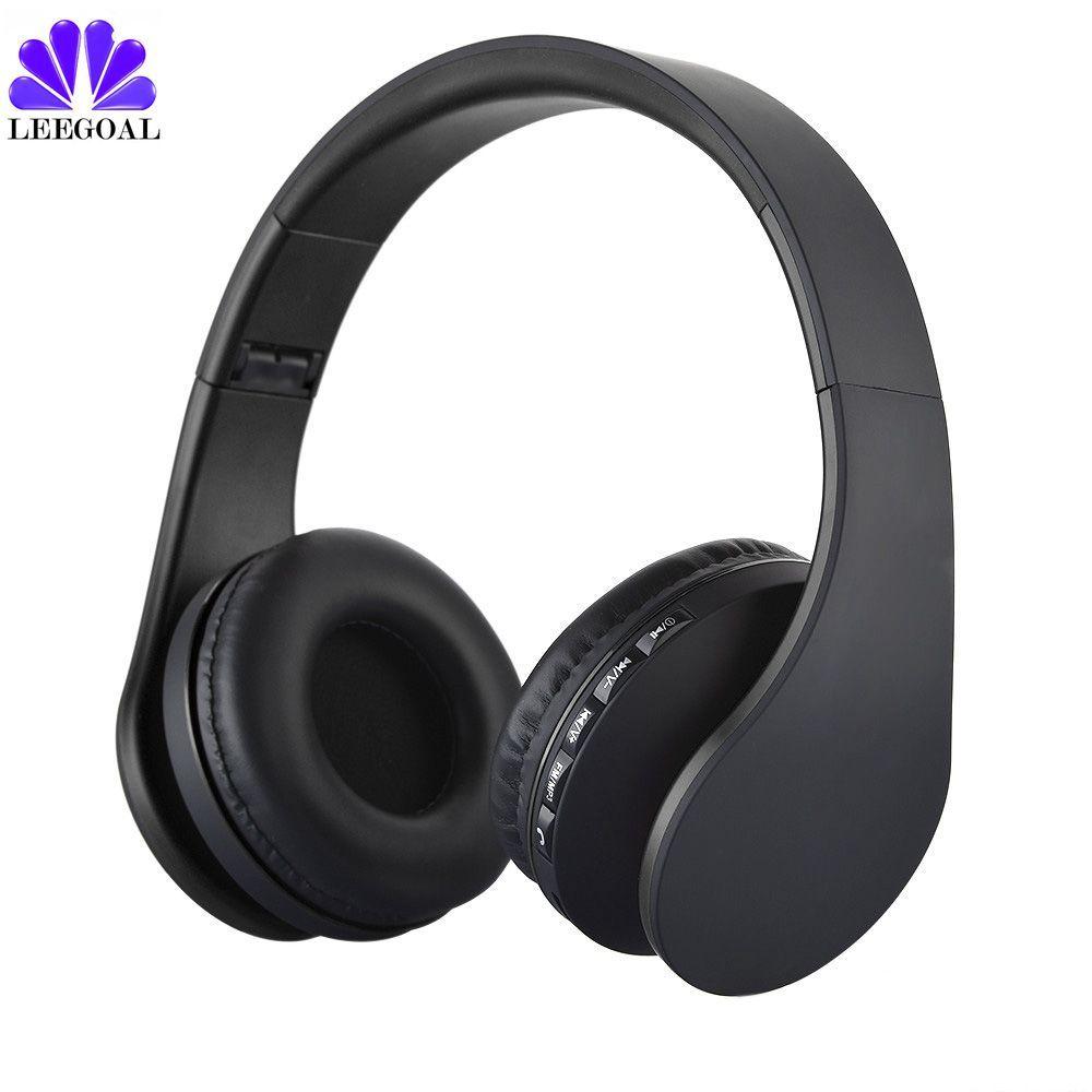 Leegoal sans fil Bluetooth casque stéréo Portable pliable écouteur mains libres Mic MP3 FM casque pour téléphones intelligents BT-811