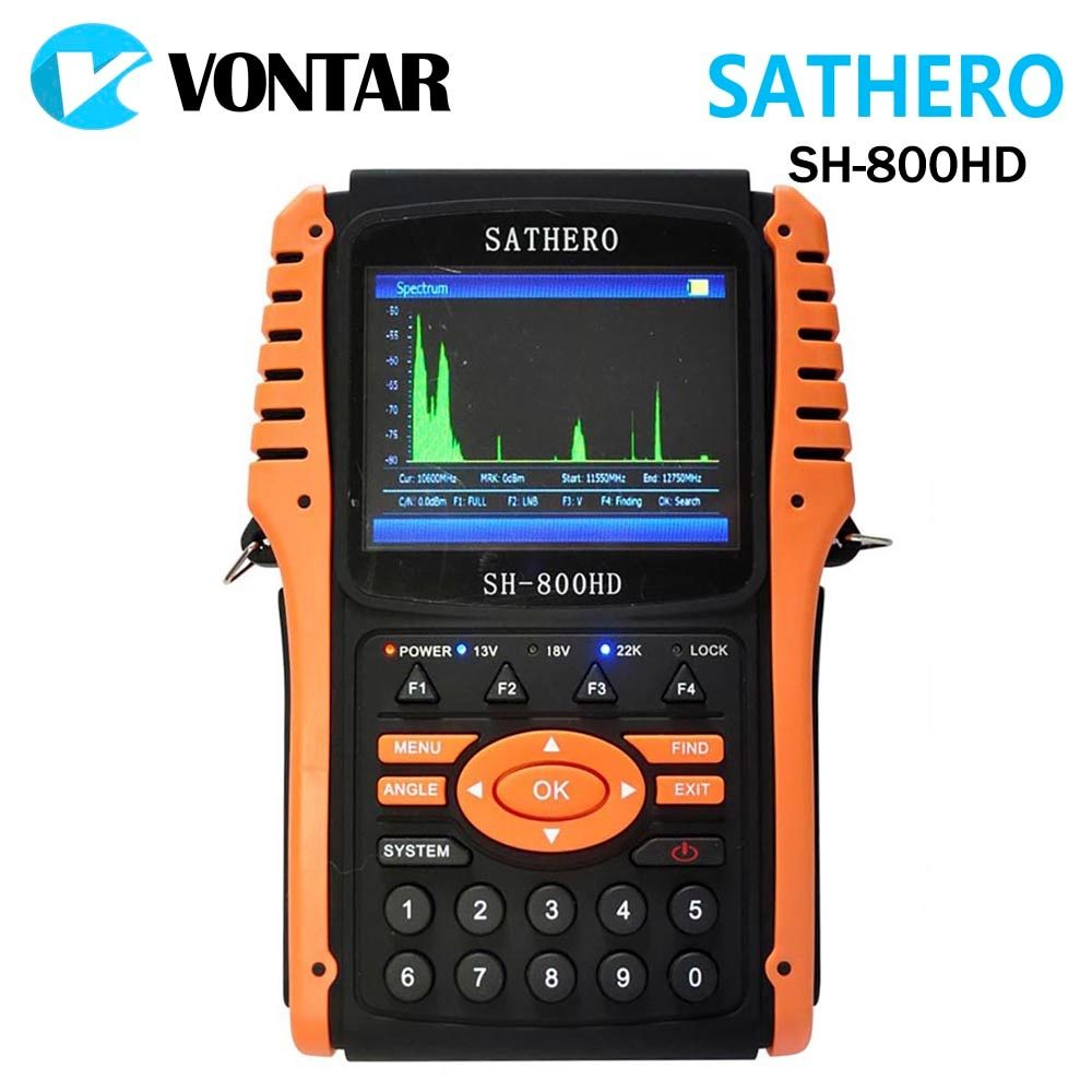 Original Sathero SH-800HD Digital Satellite DVB-S2 Finder Meter USB2.0 HD Output Satfinder HD with Spectrum Analyzer