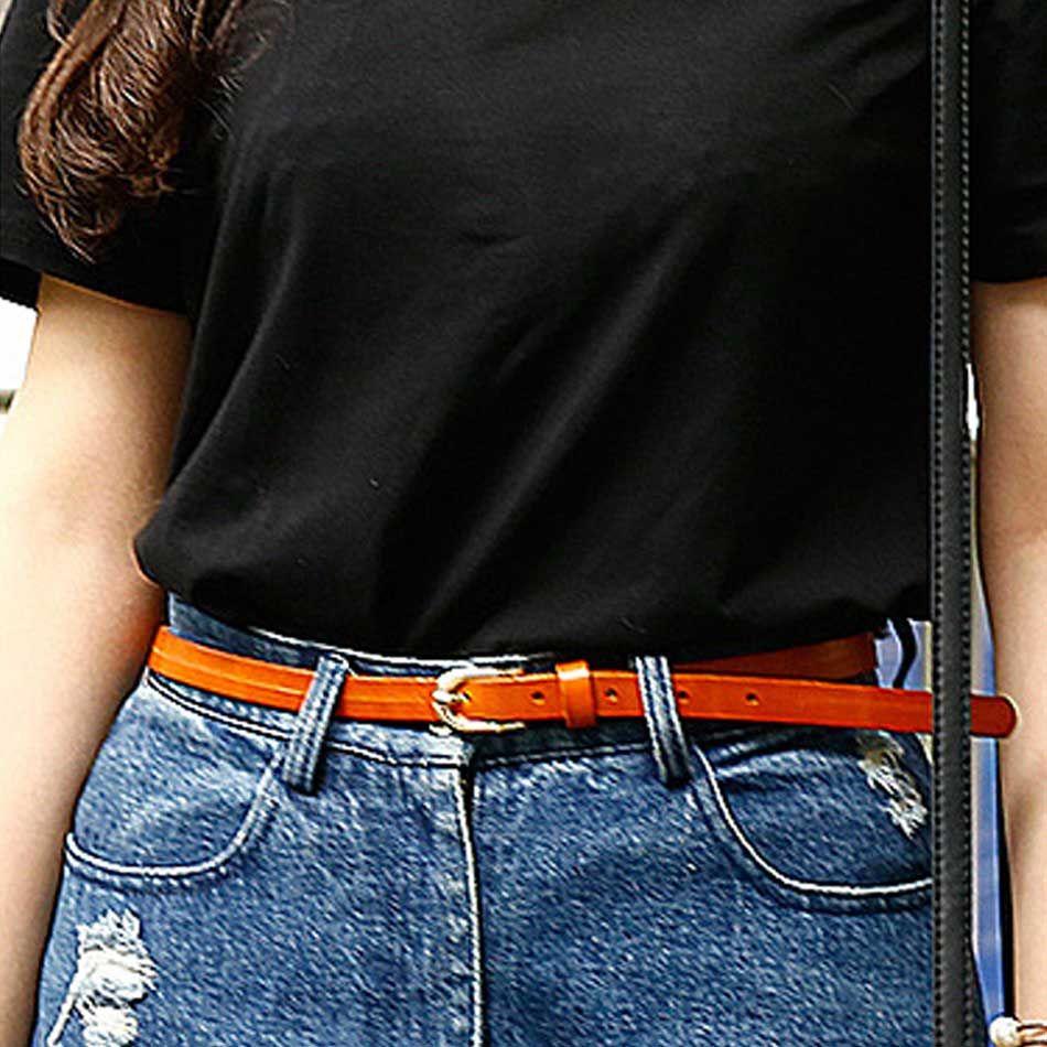 CASTELLES Thin Strap Belts For Women Designer Fashion Female Belt Woman High Quality Genuine Leather Cinturones Mujer