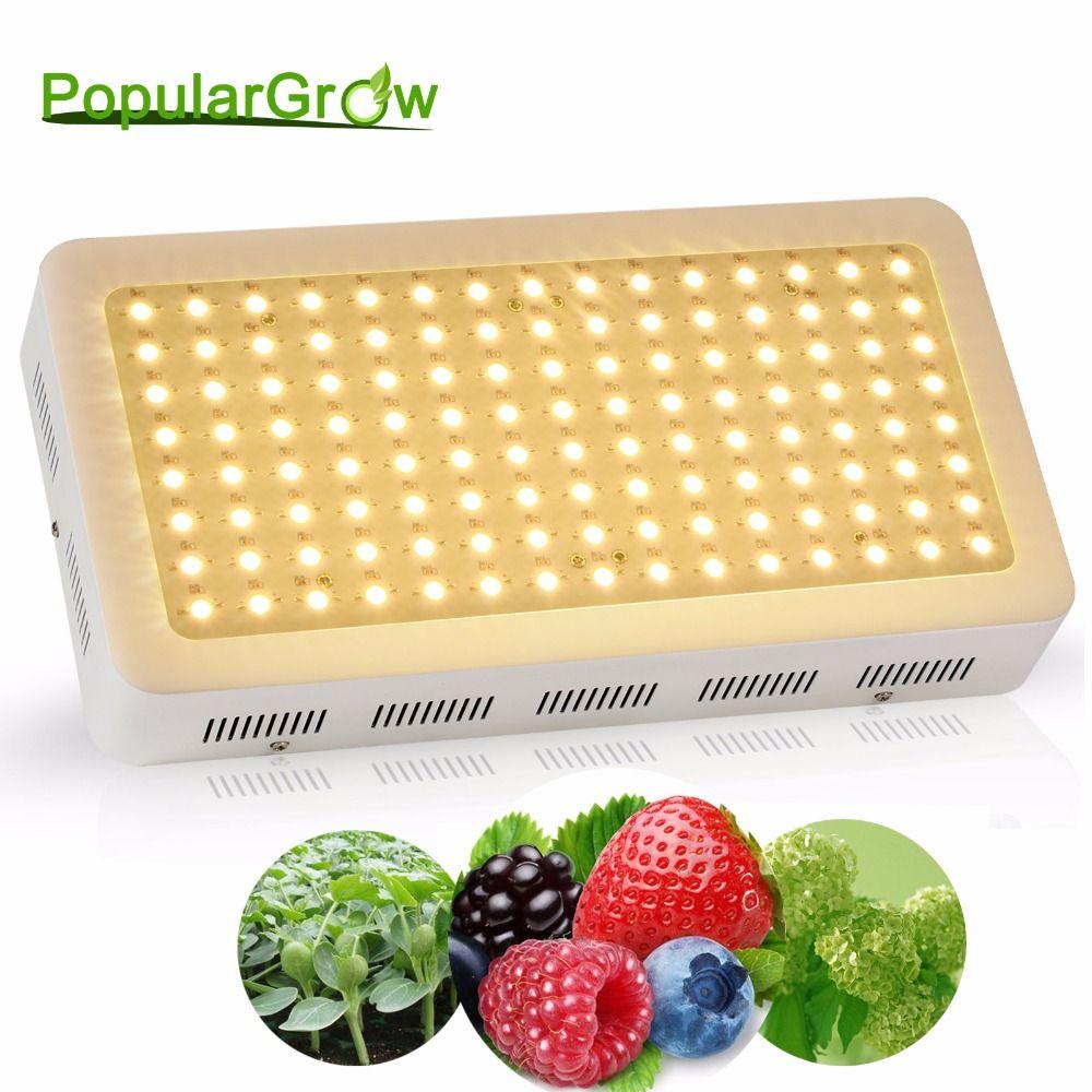 Populargrow 600 w phyto-lamp pour les plantes à spectre complet pour la culture hydroponique serre d'intérieur cultiver tente/boîte substituer la lumière du soleil
