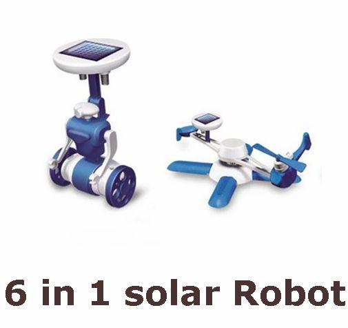 Vente chaude Nouveaux Enfants de BRICOLAGE jouets solaires 6 in1 éducation solaire puissance Kits Nouveauté solaire robots Pour Enfant d'anniversaire cadeau