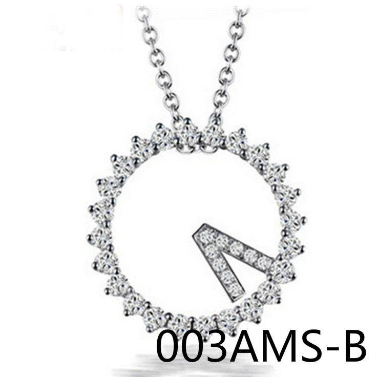 Korean New Pattern Fashion Micro Insert 520 Festival Necklace Short Fund Clavicle Pendant Chain 003AMS shouzhuo