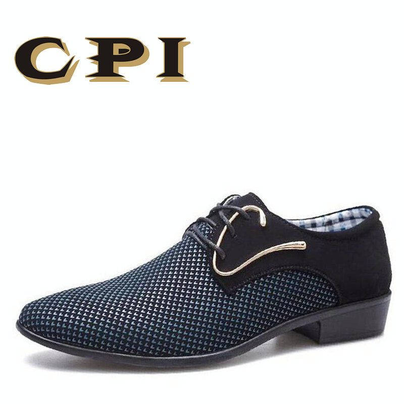 CPI 2018 spring new designer Business men's dress shoes patchwork hairstylis shoes Comfortable Men Wedding Dress Shoes ZY-01