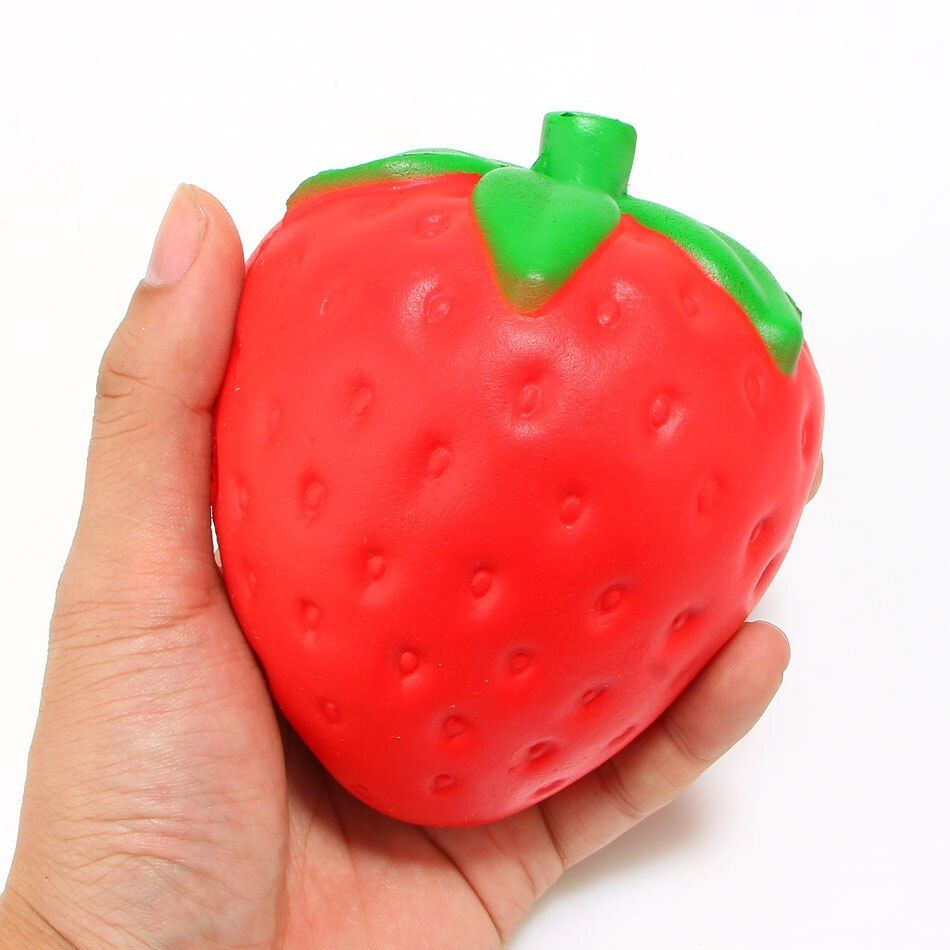 New Arrived 12CM Jumbo Strawberry Squishy Super Slow Rising Sweet Scented Phone Strap