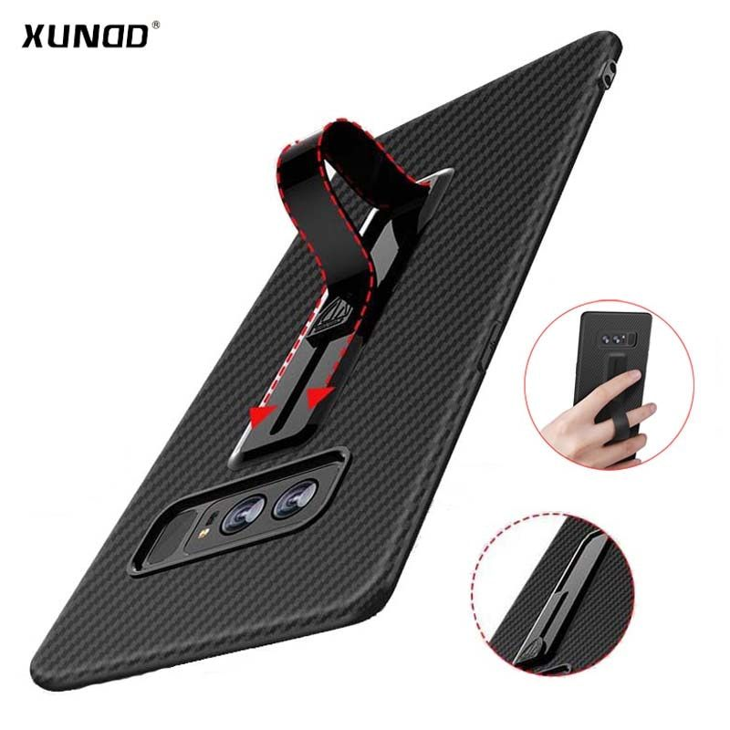 Newest Xundd case for samsung galaxy note 8 with hidden ring holder ultra thin soft silicone back case cover for galaxy note 8