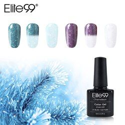 Elite99 10 Ml Bersalju Termal Gel Cat Kuku Bunglon Suhu Perubahan Warna Gel Varnish SOAK Off Nail Art Gel lacquer