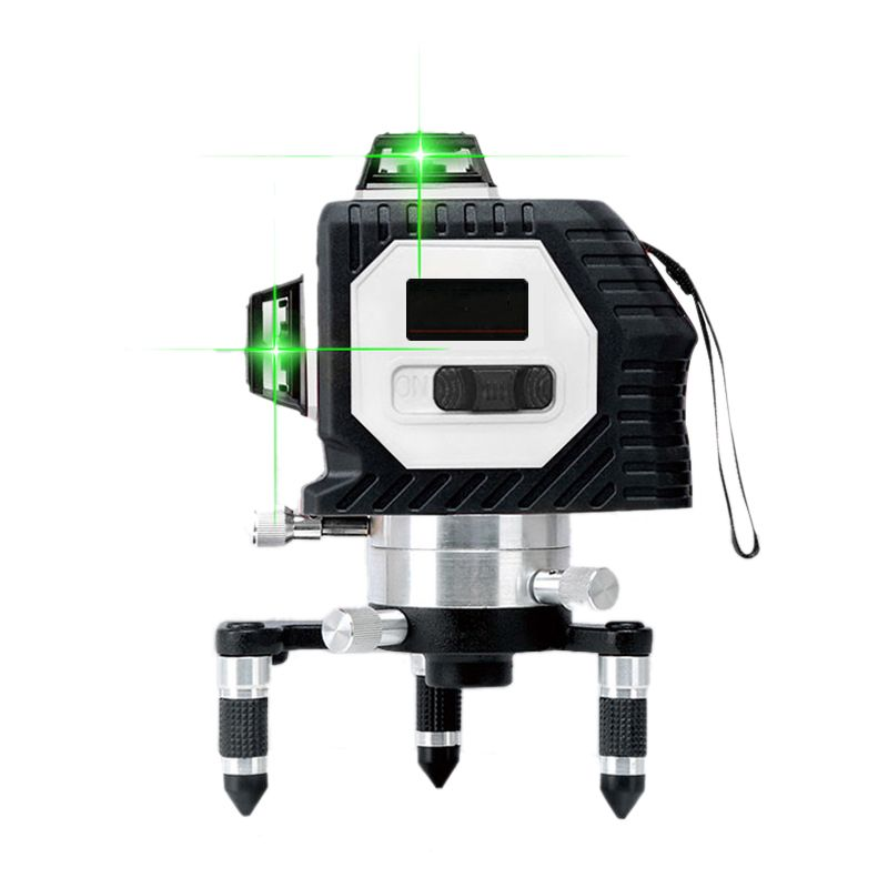 3D 808nm 12Lines Green Laser Levels Stick wall Self-Leveling 360 Horizontal And Vertical Cross Powerful Green Laser Beam Line