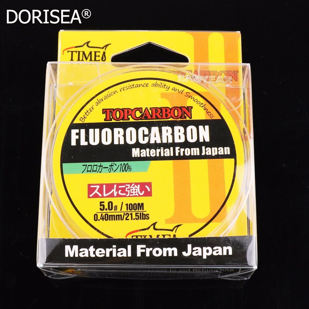 Lignes de pêche de haute qualité 100m 4.4-35.2LB fluorocarbone ligne de pêche à la mouche en Fiber de carbone ligne de Monofilament de couleur transparente claire