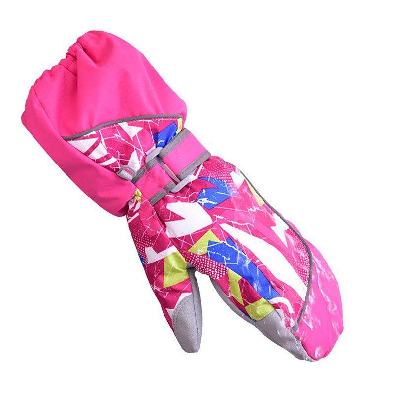Children Winter Warm Ski Gloves Boys/Girls Sports Waterproof Windproof Snow Mittens Extended Wrist Skiing Not Bifurcated Gloves