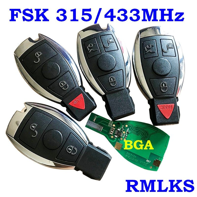 RMLKS 2 3 4 Buttons Intelligent Smart Remote Key 315MHz 433MHz Car Auto Fit For Mercedes Benz 2000+ NEC BGA Type Remote Key Fob