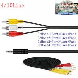 10 líneas HD AV Cable Cccam cline vía satélite receptor DVB-S2 apoyo Europa Servidor de 1 año a través de USB wifi envío libre