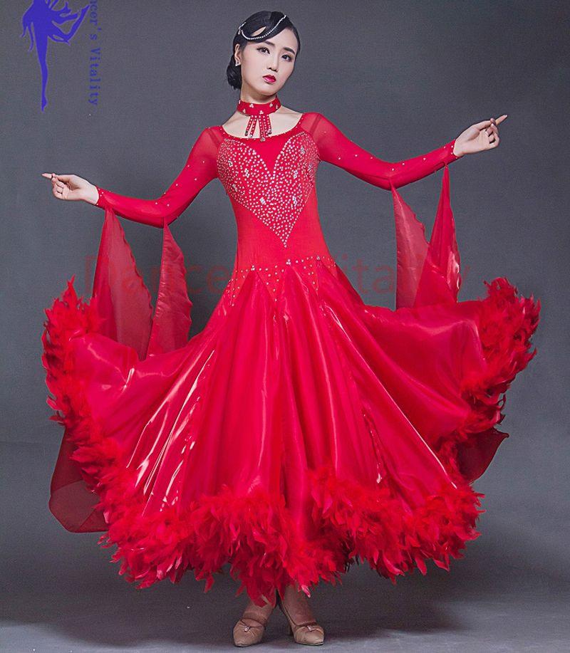 Ballroom dance kostüme senior silk steine langen ärmeln ballroom dance kleid für frauen ballroom dance competition kleider