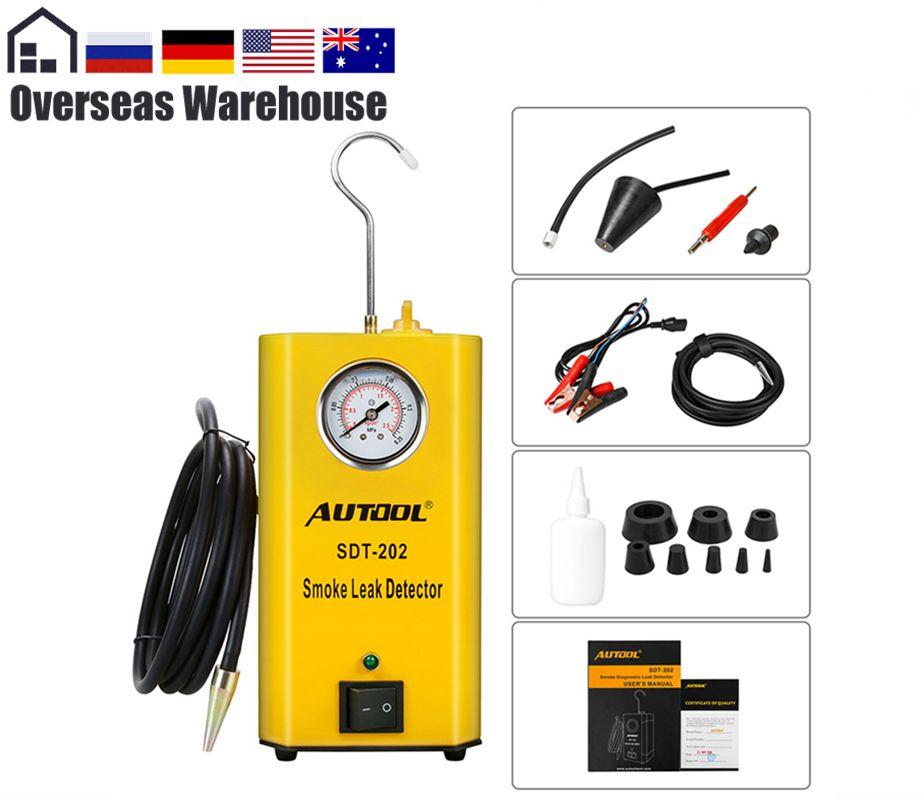AUTOOL SDT-202 Universal Car Smoke Leak Detector Evap Vacuum Smoke Diagnostic Tester Leak Locator Gas Analyzers For Automotive