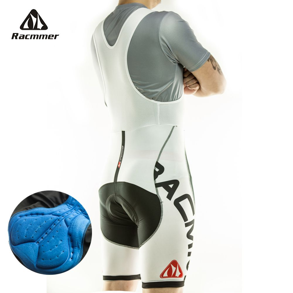 Racmmer 2018 Mens Cycling Bib Shorts Summer Coolmax 5D Gel Pad Bike Bib Tights Mtb Ropa Ciclismo Moisture Wicking Pants #BD-01
