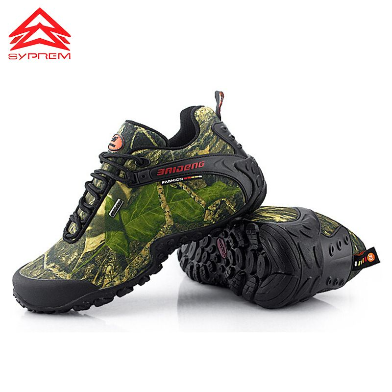 2017 Hot Mens Hiking Shoes Waterproof Trekking Shoes Men Outdoor Mountain Shoes Leather Climbing Sneakers breathable camping