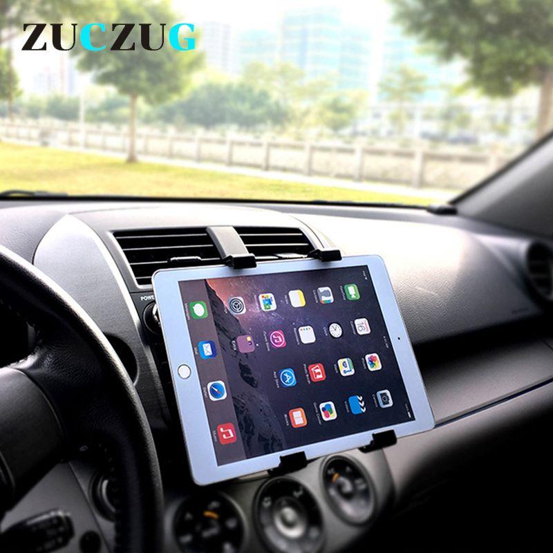 Универсальный 7 8 9 10 дюймов автомобиля планшетный ПК Автомобильный держатель Монтажный зажим подставка для ipad 2 3 4 5 6 воздуха 1 2 Tablet Автомобил...