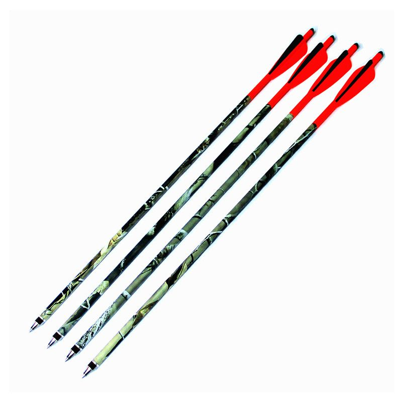 16/18/20 inch Crossbow Bolts Hunting Mix Carbon Arrows 6/12 pack 8.80MM O.D Steel Arrowhead Fletch with 4 inch Vanes