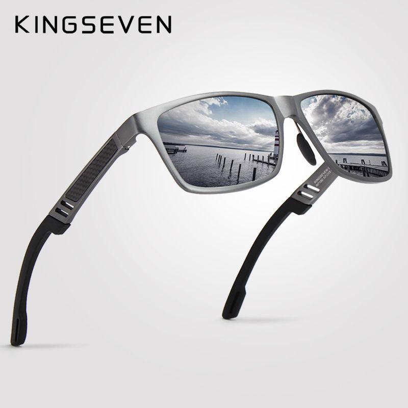 2018 Nouveau KINGSEVEN Polarisées lunettes de Soleil Hommes Marque Designer Homme Vintage Lunettes de Soleil Lunettes oculos gafas de sol masculino