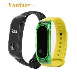 Yuedaer Mi Band 2 Silikon Tali untuk Xiao Mi Mi Band 2 Gelang Tali Kebugaran Tracker Sport Band Pengganti xio Mi Mi Band 2