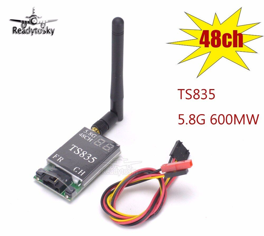 TS835 FPV 5.8G 600MW 48CH (2-6S) Wireless AV Transmitter Better Than TS832