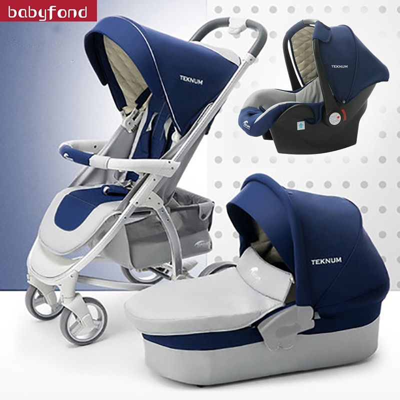 Teknum Baby Carriage Cart Can Sit, Lie Down, Fold High Landscape, Light Newborn Pushes Carriage.