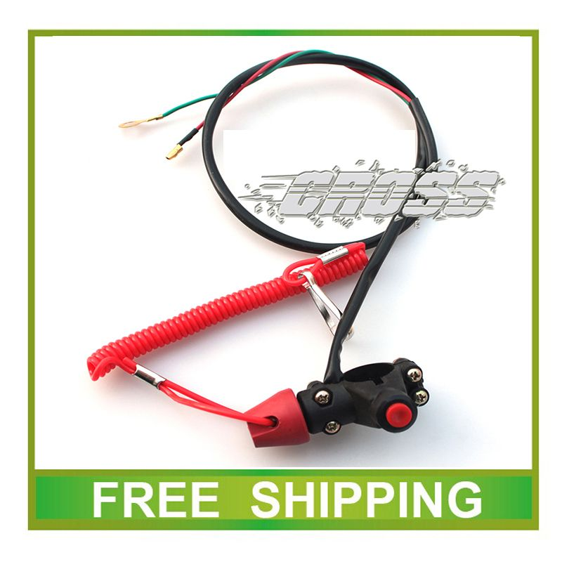 mini moto atv quad 47cc 49cc emergency switch pocket bike liya kingrome accessories free shipping