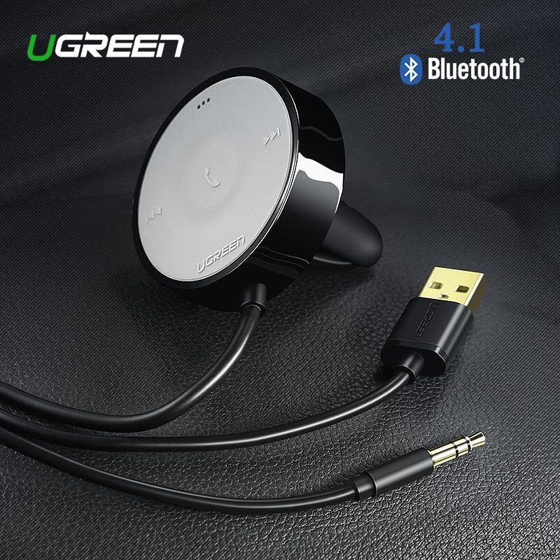 UGREEN Bluetooth Empfänger 4,1 Wireless 3,5mm Adapter Freisprecheinrichtung Bluetooth Car Kit Bluetooth Audio Empfänger für Lautsprecher Auto Stereo