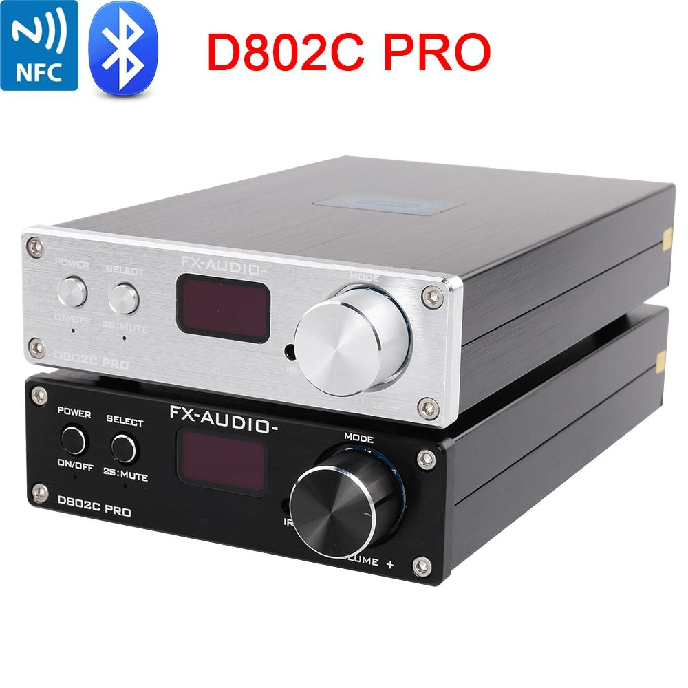 FX-Audio D802C PRO Wireless Bluetooth 4.2 Support APTX NFC USB /AUX/Optical/Coaxial Pure Digital Audio Amplifier 24Bit 192Khz