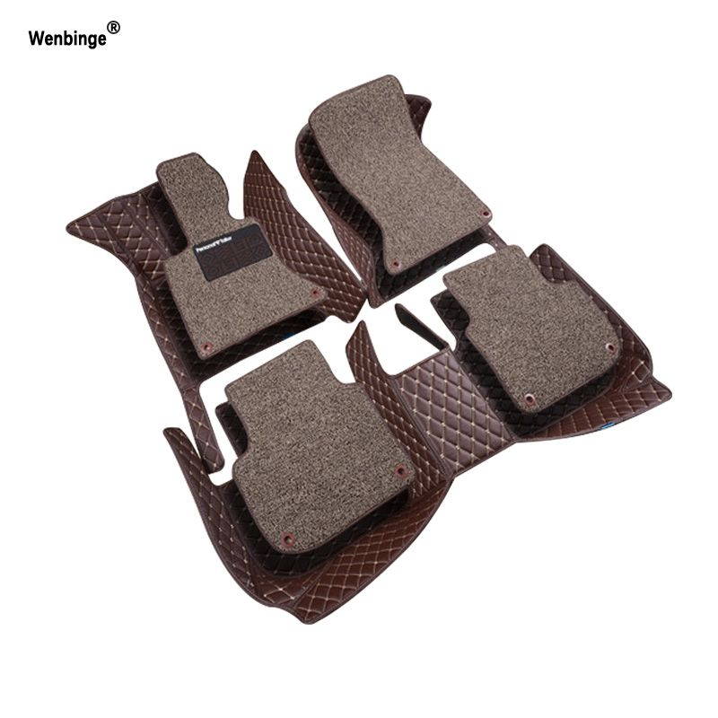 Wenbinge coche para BMW E30 e39 e36 e34 e46 E60 E90 F10 F30 X1 X3 X4 X5 X6 1/2/3/4/5/6/7 accesorio coche styling Foot mat