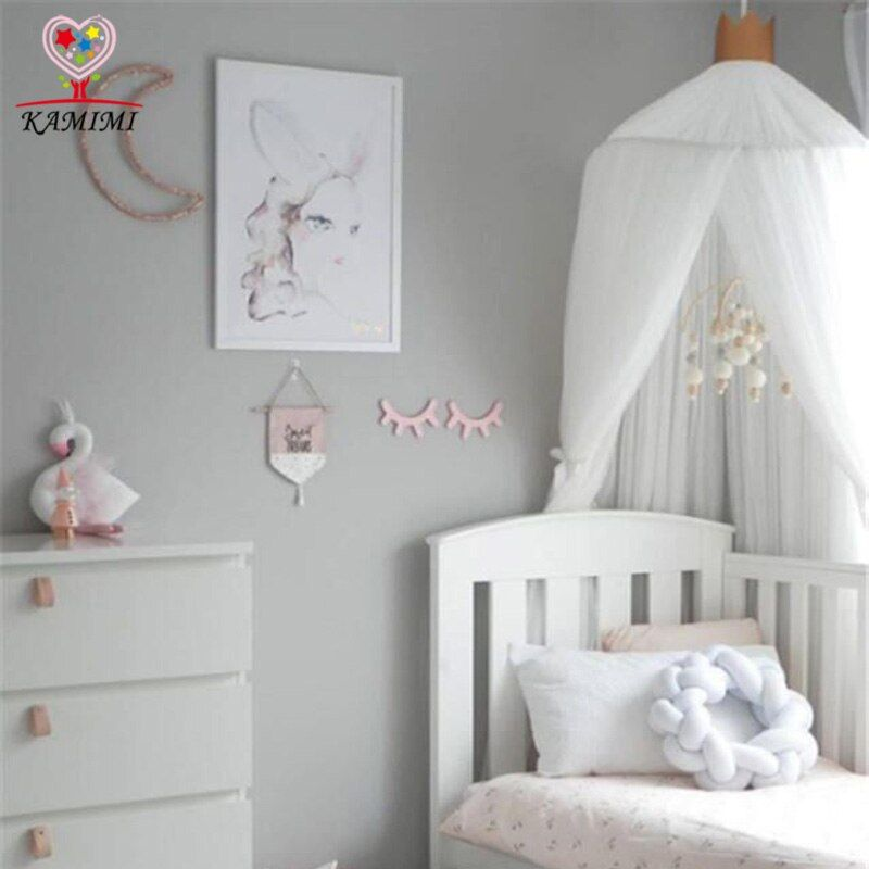2017 summer new Baby bed curtain kids Mosquito Net children Cotton Crib Netting baby bedroom decoration baby photography props