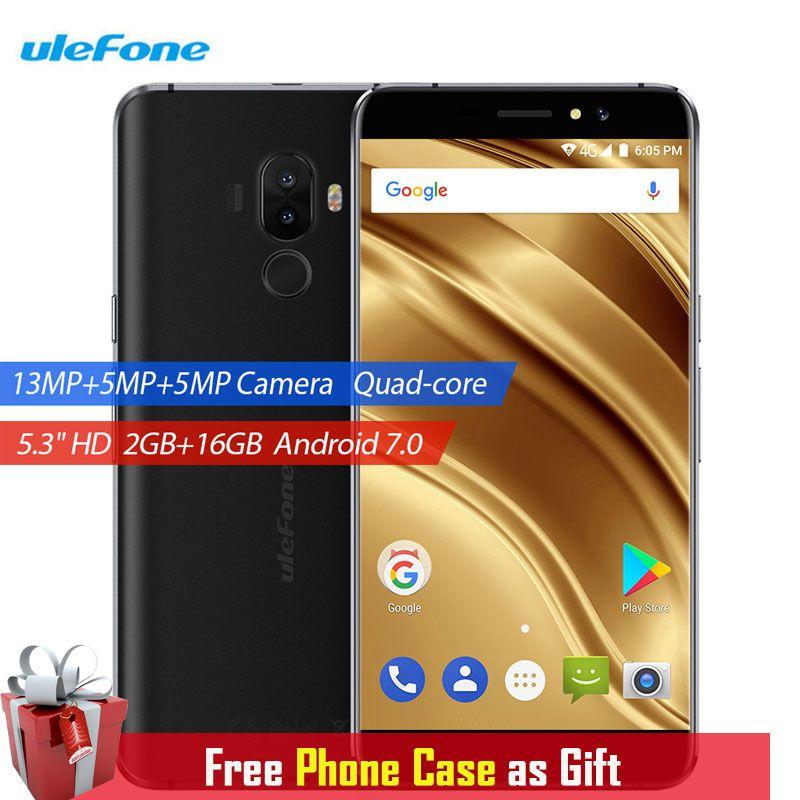 Ulefone S8 Pro Smartphone Fingerprint 5.3 Inch 2GB RAM 16GB ROM Android 7.0 Phone 3000mAh Dual Back Cameras 13MP 4G Cell Phones