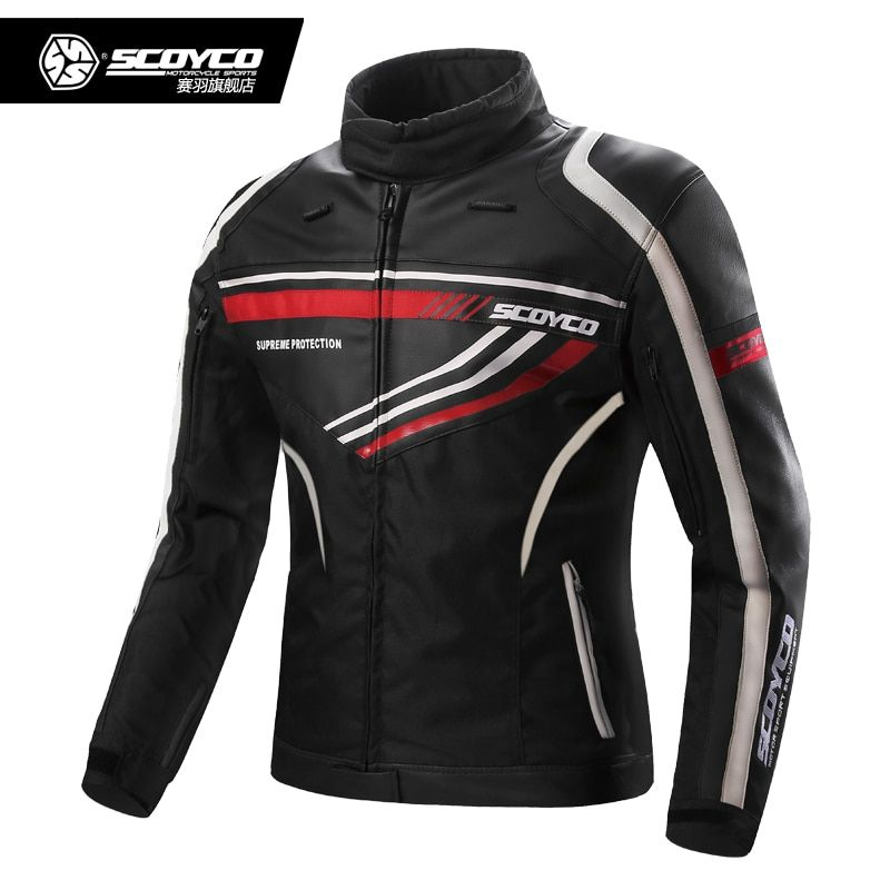 Motorcycle jacket Scoyco JK37 moto sport jacket PU leather + Oxford cloth 7pcs protector motocross protective clothing