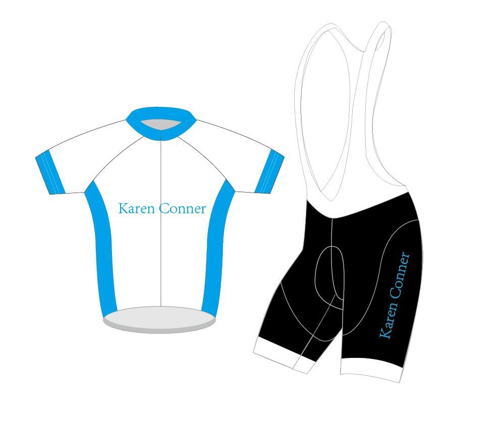 Karen connor bricolage ensemble de cyclisme personnalisé