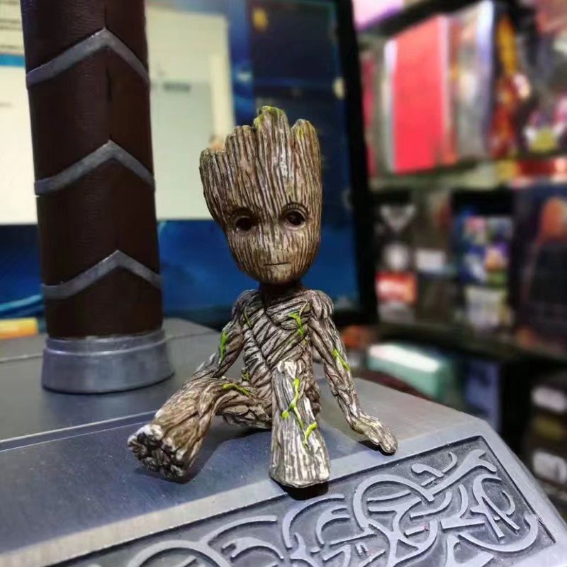 6cm Sitting Tree Man Groot PVC Action Figure Guardians of the Galaxy 2 Tree Man Baby Model Toy Desk Decoration Gifts For Kid