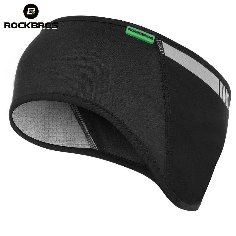 ROCKBROS Cycling Headband Outdoor Sports Windproof Thermal Fleece Balaclava Earmuffs Protective Cap Camping Ski Sport Hairband
