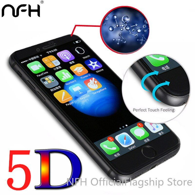 5D (3nd Gen 3D 2nd Gen 4D) Full Screen Cover Tempered Glass For iPhone 6 6S 7 7 Plus NFH Screen Protector Film Case On 4.7