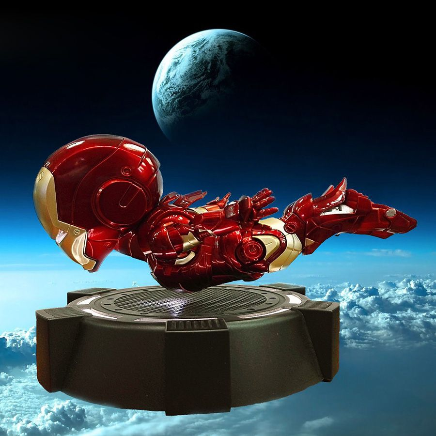 Magnetic Floating Maglev Iron Man LED Flash Light Figure Doll Collection Magnetically levitated Toy Iron Man Figure MK3