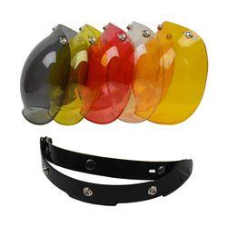 Envío libre visera burbuja calidad superior Open face casco de la motocicleta del visera 9 color disponible casco parabrisas