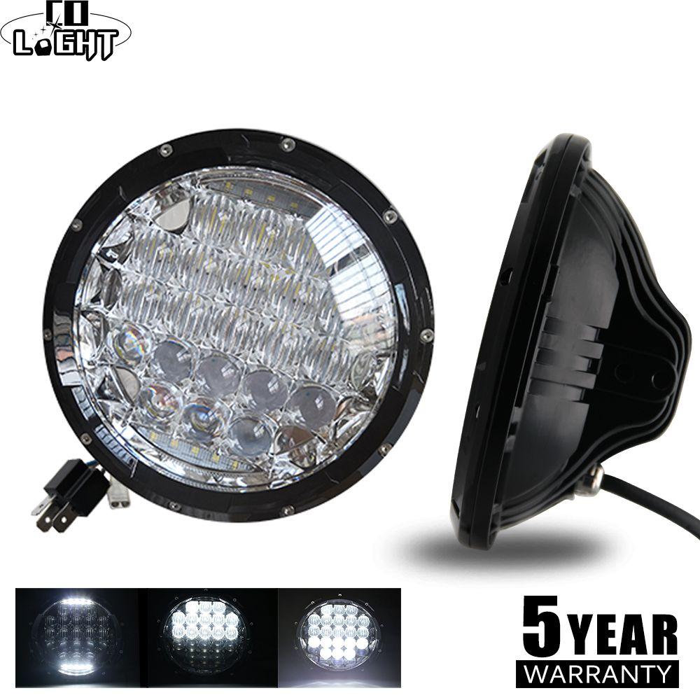 CO LIGHT 5D 7inch Led Headlights 105W LED DRL Hi/Low H4 H13 Auto Daytime Running Light for Suzuki Samurai Lada Niva 4x4 Uaz Jeep
